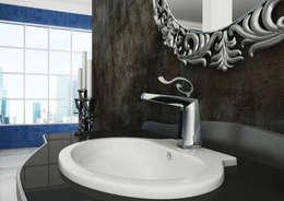 Lavabo Ortigia: Bagno in stile in stile Eclettico di Mamoli Rubinetteria