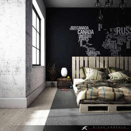 غرفة نوم تنفيذ SK ARCHITECTURAL VISUALIZATION