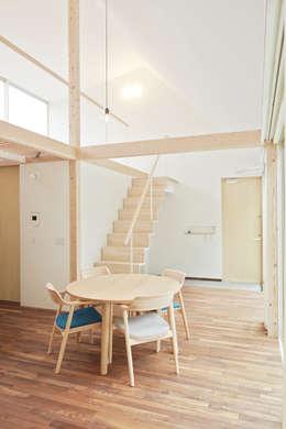 Projekty,  Salon zaprojektowane przez 白砂孝洋建築設計事務所