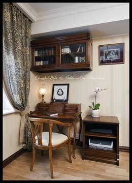 Квартира в стиле классического Арт Нуво: Рабочие кабинеты в . Автор – D&T Architects