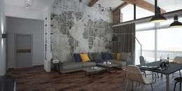 Salon de style de style Industriel par Мастерская архитектуры и дизайна FOX