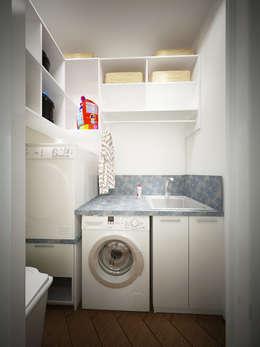 13 ideas para un cuarto de lavar chiquito for Lavaderos chiquitos