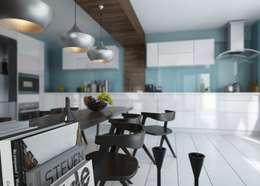 ROAS ARCHITECTURE 3D DESIGN – Dining Table Detail: modern tarz Mutfak