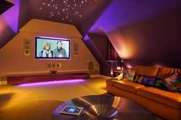 modern Media room by New Wave AV