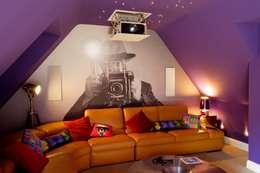 moderne Mediakamer door New Wave AV