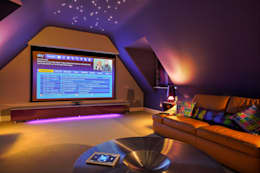 Incredible Loft Cinema Conversion: modern Media room by New Wave AV