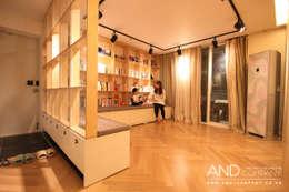 Projekty,  Salon zaprojektowane przez 앤드컴퍼니