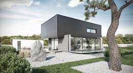 ogród: styl minimalistyczne, w kategorii Domy zaprojektowany przez ENDE marcin lewandowicz
