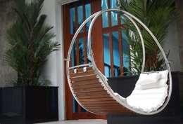 eclectisch Balkon, veranda & terras door Trinity hammocks
