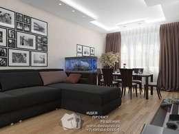 Salas / recibidores de estilo ecléctico por Бюро домашних интерьеров