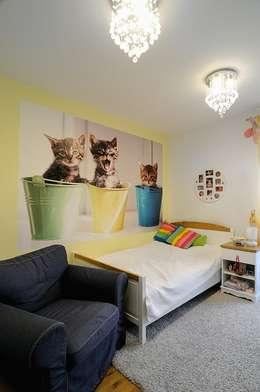 Beton udomowiony – czyli nowoczesne mieszkanie w Krakowie.: styl , w kategorii Pokój dziecięcy zaprojektowany przez ARTEMA  PRACOWANIA ARCHITEKTURY  WNĘTRZ