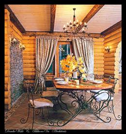 D&T Architects: kırsal tarz tarz Yemek Odası