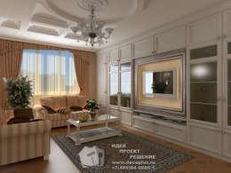 ТВ-зона классической гостиной: Гостиная в . Автор – Бюро домашних интерьеров