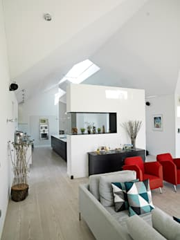 scandinavian Living room by C.F. Møller Architects