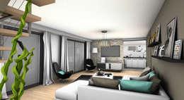 SALON 1: Salon de style de style Moderne par PYXIS Home Design