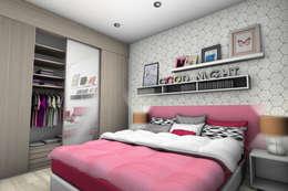 CHAMBRE ADOLESCENTE 1: Chambre d'enfant de style de style Moderne par PYXIS Home Design