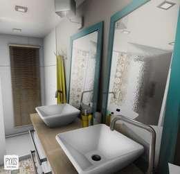 Double vasque de la salle des bain parentale: Salle de bains de style  par PYXIS Home Design