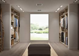 Vestidores y closets de estilo moderno por Centimetre.com