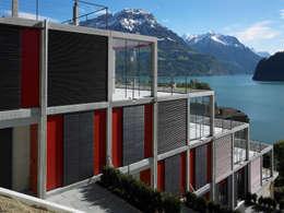 Projekty, nowoczesne Domy zaprojektowane przez Eggenspieler Röösli Architekten AG