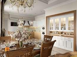 Классический стиль в интерьере квартиры в ЖК «Duderhof Club», 193 кв.м.: Кухни в . Автор – Студия Павла Полынова