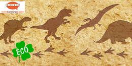 Bordüre - Dino-Spuren: ausgefallene Kinderzimmer von Mein Bordürenladen
