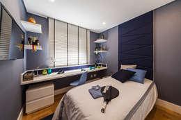 غرفة نوم تنفيذ GUSTAVO GARCIA ARQUITETURA E DESIGN