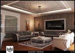 Hayal Mimarlık Mühendislik Proje İnş.San. Tic. Ltd.Şti. – Başkent Premium Örnek Daire: klasik tarz tarz Oturma Odası