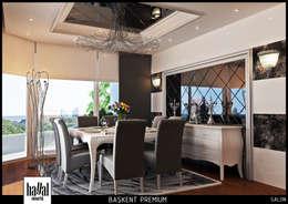 Hayal Mimarlık Mühendislik Proje İnş.San. Tic. Ltd.Şti. – Başkent Premium Örnek Daire: klasik tarz tarz Yemek Odası