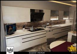 Hayal Mimarlık Mühendislik Proje İnş.San. Tic. Ltd.Şti. – Başkent Premium Örnek Daire: modern tarz Mutfak