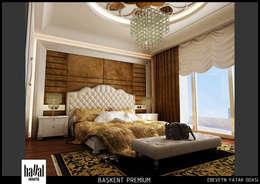 Hayal Mimarlık Mühendislik Proje İnş.San. Tic. Ltd.Şti. – Başkent Premium Örnek Daire: klasik tarz tarz Yatak Odası