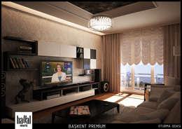 Hayal Mimarlık Mühendislik Proje İnş.San. Tic. Ltd.Şti. – Başkent Premium Örnek Daire: modern tarz Oturma Odası