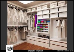 Hayal Mimarlık Mühendislik Proje İnş.San. Tic. Ltd.Şti. – Başkent Premium Örnek Daire: modern tarz Giyinme Odası