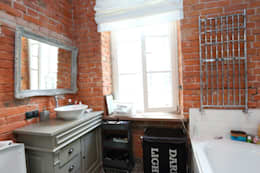 Baños de estilo industrial por livinghome wnętrza Katarzyna Sybilska