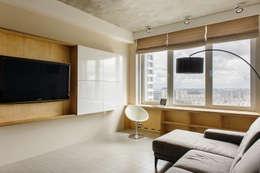 Отделка квартиры фанерой: Гостиная в . Автор – Мебельная компания FunEra. Изготовление мебели из фанеры на заказ. http://www.fun-era.ru