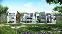 Casas Modulares: Casas de estilo industrial por Lights & Shades Studios