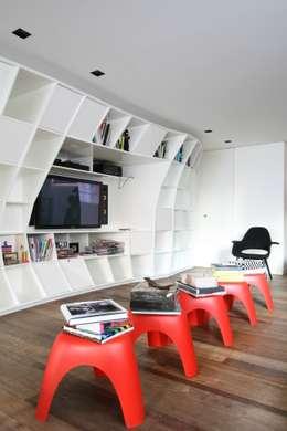 Projekty,  Salon zaprojektowane przez Calio design + interiores =