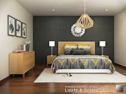 modern Bedroom by Lights & Shades Studios