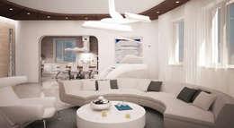 minimalistic Living room by Студия Максима Рубцова.