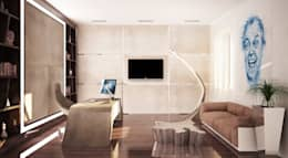minimalistic Study/office by Студия Максима Рубцова.