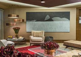 Lounge das Jabuticabeiras: Salas de estar modernas por Denise Barretto Arquitetura