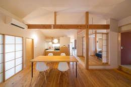 小さな平屋の家: FAD建築事務所が手掛けたダイニングです。