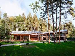 """Дом """"Woodlark"""" - комбинированные конструкции: Дома в . Автор – NEWOOD - Современные деревянные дома"""