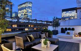 Balcones, porches y terrazas de estilo moderno por The Manser Practice Architects + Designers