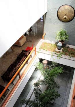 RESIDENCE FOR MRS. & MR. VASUKI RAJAGOPALAN:  Terrace by Muraliarchitects