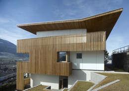 Projekty, minimalistyczne Domy zaprojektowane przez Burnazzi  Feltrin  Architects