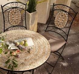 Gartenmöbel-Set aus Metall, 3-teilig : mediterraner Garten von GartenXXL
