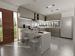 modern Kitchen by Chazarreta-Tohus-Almendra