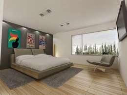 moderne Slaapkamer door Chazarreta-Tohus-Almendra