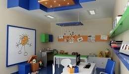 Renders interiores: Dormitorios infantiles de estilo moderno por Entretrazos