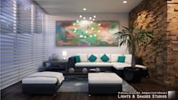 modern Living room by Lights & Shades Studios